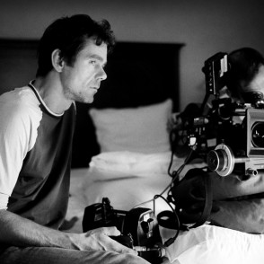 Director Tom Tykwer on set