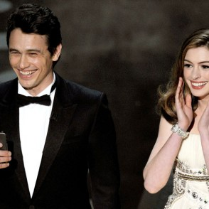 James Franco and Anne Hathaway at the 2011 Oscars