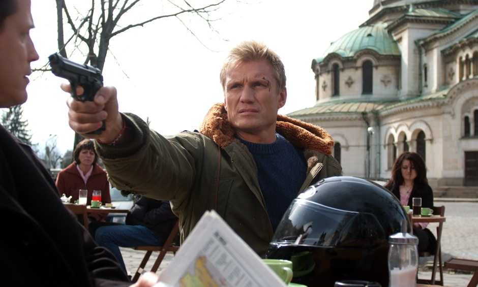 Dolph Lundgren is the guy with the gun