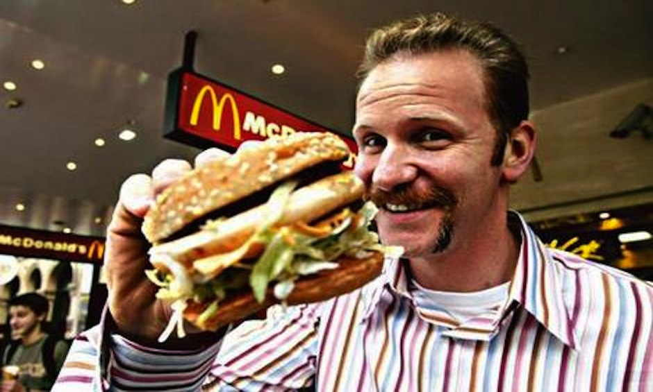 lunching morgan spurlock stumped magazine morgan spurlock supersize me
